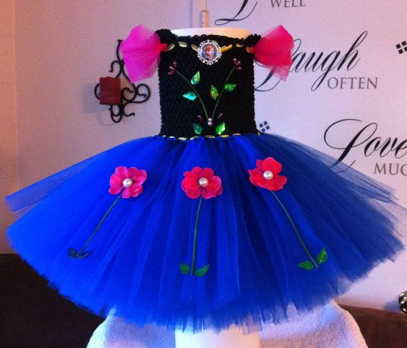 Disney Frozen Princess Anna Tutu Dress Costume Birthday Party Halloween