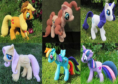 My Little Pony Crochet By Nerdyknitterdesignsiantart On