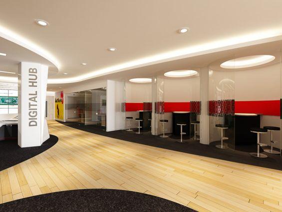 10 Branches Designed To Wow The Digital Banking Consumer Bank Interior Design Bank Design Branch Design