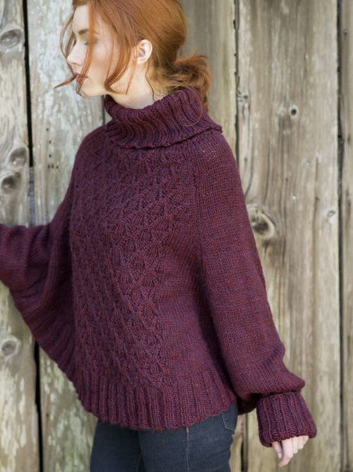 Galilee Poncho Sweater Free Knitting Pattern Poncho Sweater Free