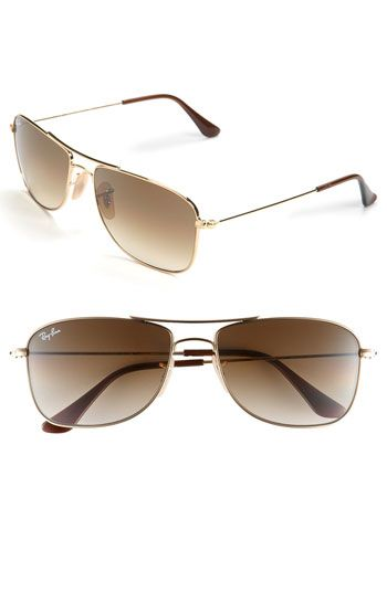 3fcc73a55243d Ray-Ban  Square Aviator  56mm Sunglasses available at  Nordstrom- ladies  the rounded aviator looks good on like 10% of people! Werkkkk the sqaures  instead!