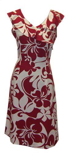 9cd3aaacd2c Hawaiian Hoku Red Island Dress