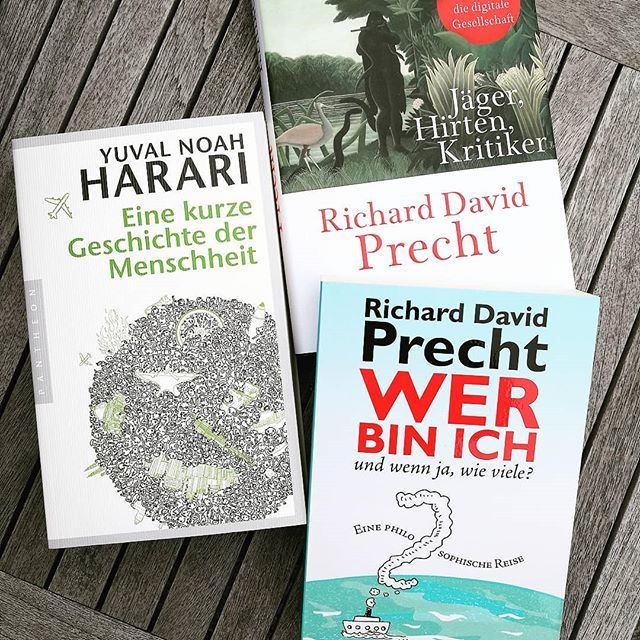 Time For Relaxing And Reading Some Philosophy Books From Richard Precht Yuval