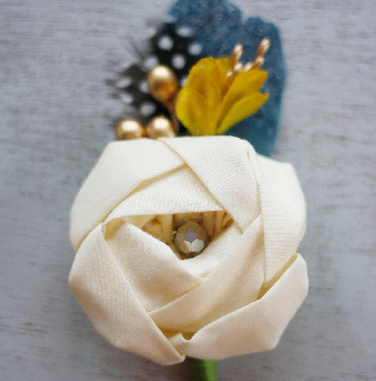 Fabric Flower Boutonniere Recipe Tutorial For Prom And Weddingsg