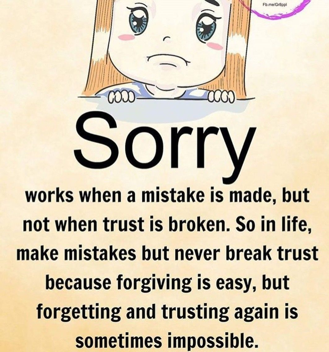 When Sorry Means Nothing