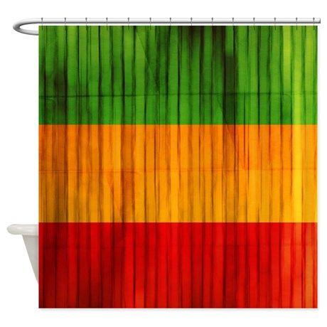 Rasta Color Stripes Shower Curtain $59.99 On CafePress.com #cafepress #rasta