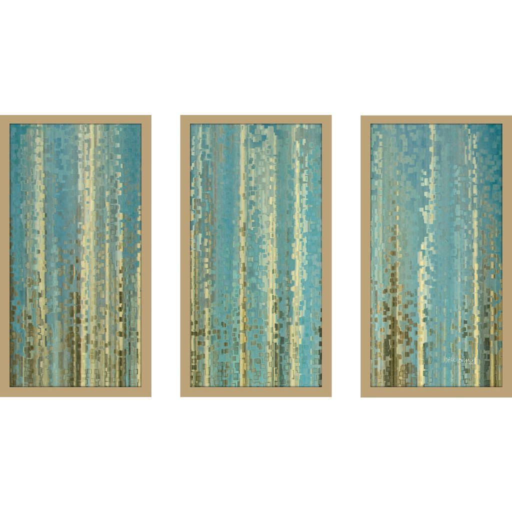 "FramedCanvasArt.com Mark Lawrence ""Ecclesiastes 3 20 Max"" Framed Plexiglass Wall Art Set of 3"