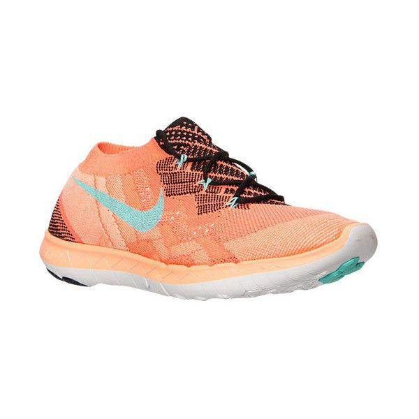 innovative design 1ba1a f5c42 Nike Women s Free 3.0 Flyknit Running Shoes, Orange ( 80) ❤ liked on  Polyvore featuring shoes, athletic shoes, workout, orange, flexible shoes,  low top, ...