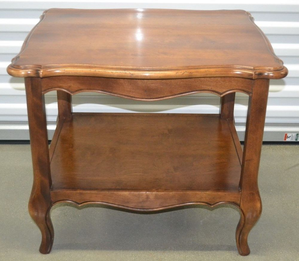 Ethan allen country french lamp table end table birch