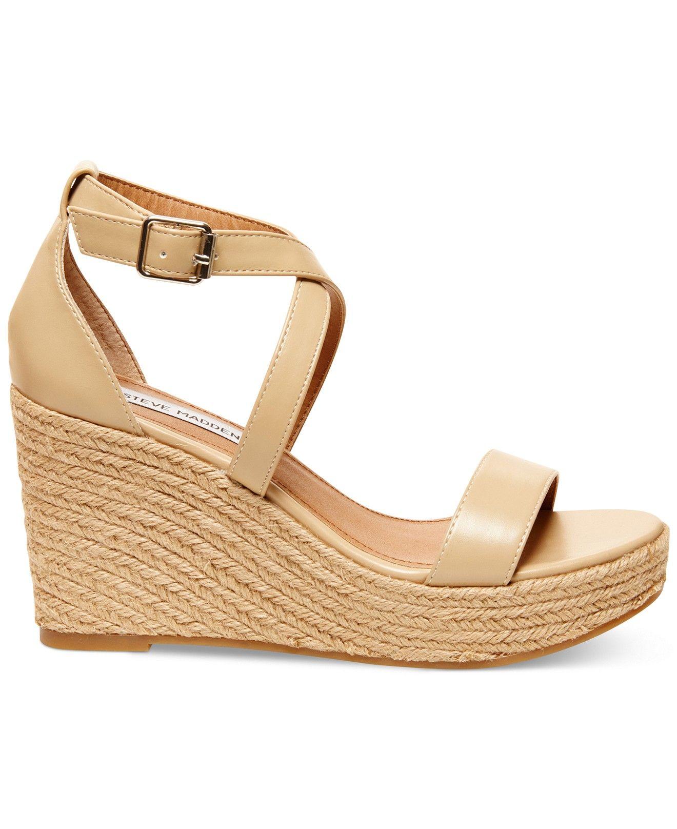 a112571acb01 Steve Madden Women s Montaukk Platform Wedge Sandals - Espadrilles - Shoes  - Macy s