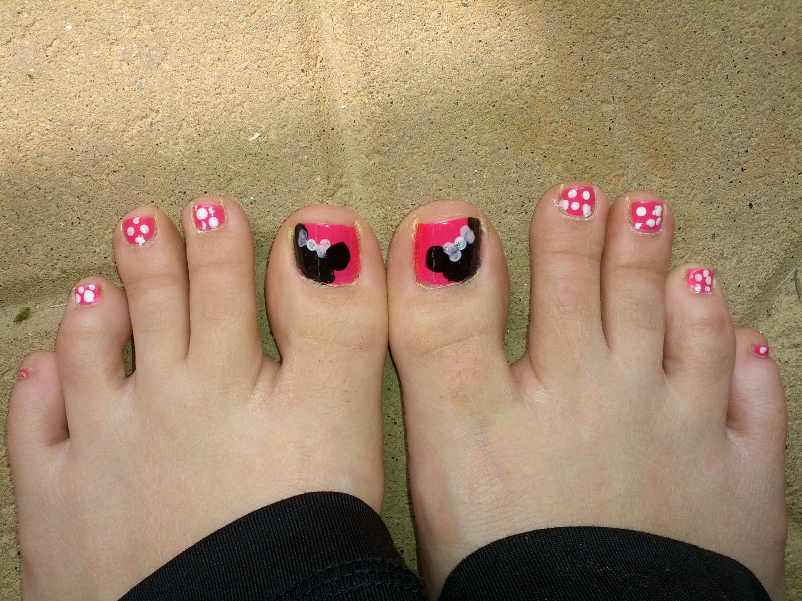 nail art, toes, disney, mini mouse, pink, princess | Nail Art ...