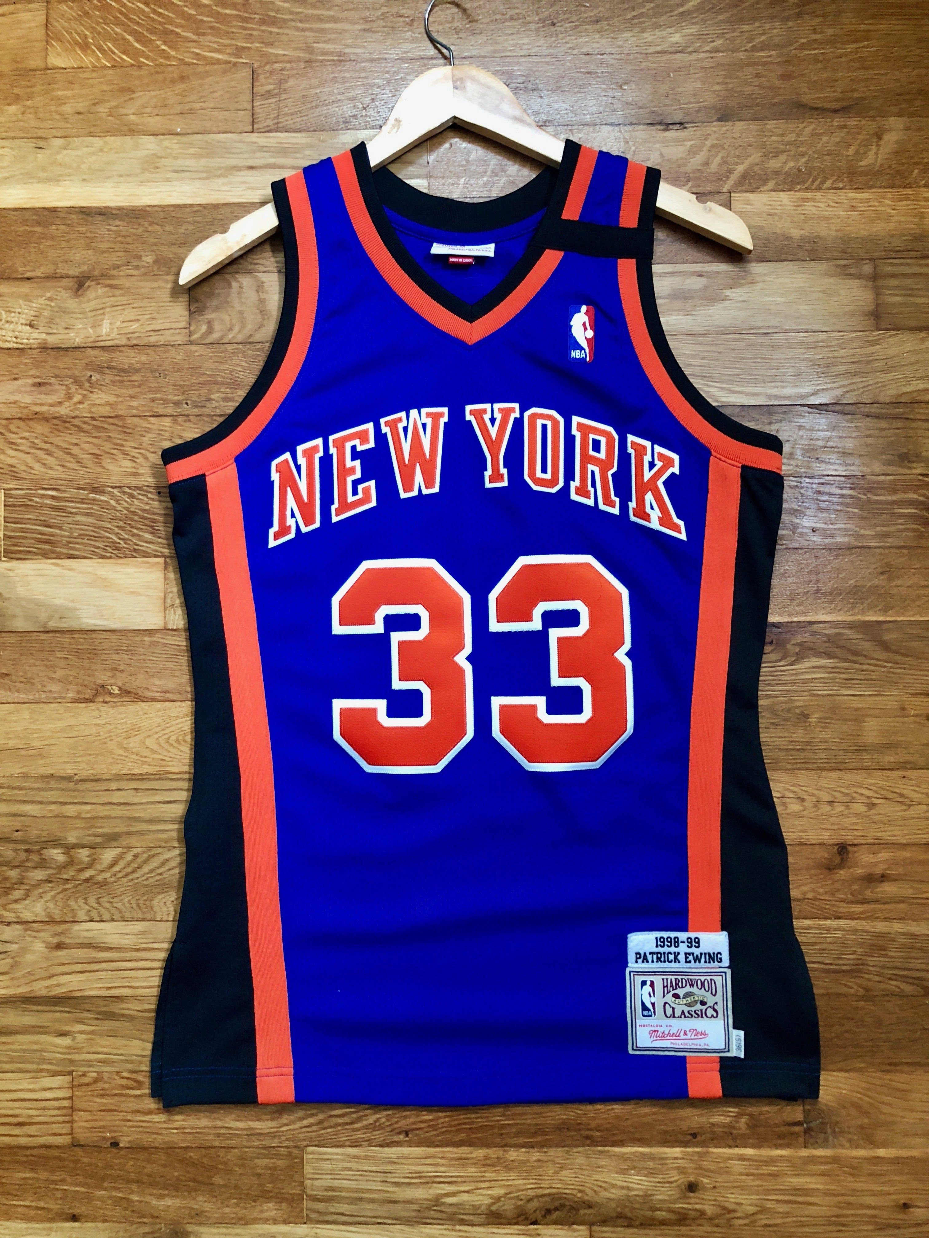 d0d13133a671 Patrick Ewing New York Knicks Authentic Mitchell   Ness Jersey Size 36    Small