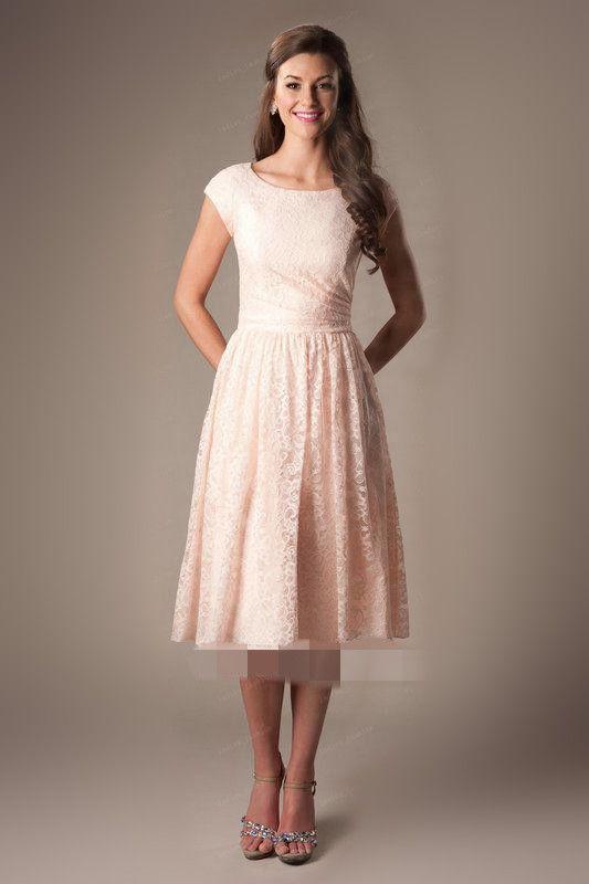 Short Sleeve Knee Length Dresses