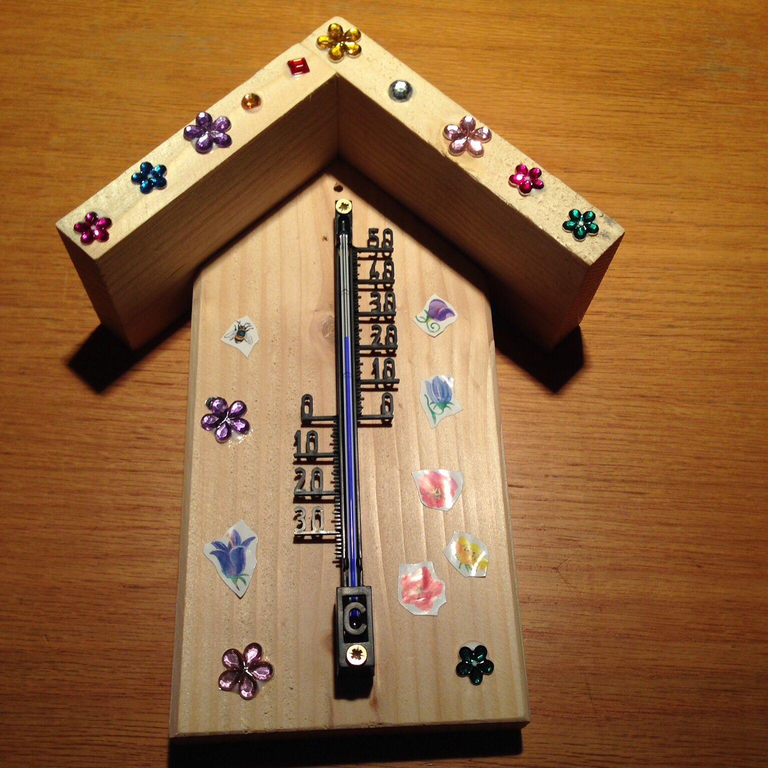 holz thermometer basteln mit kindern pinterest basteln thermometer und schulsachen. Black Bedroom Furniture Sets. Home Design Ideas