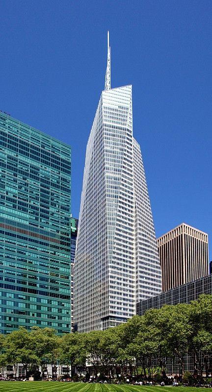 Bank Of America Tower New York N Y 365 8m 1200ft