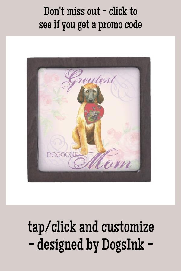 Afghan Hound Heart Mom Gift Box #mother's #day #afghan #hound #tazi #GiftBox