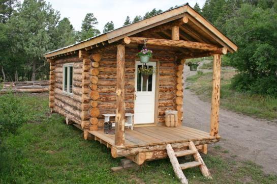 Representation Of Small Rustic Cabin Plan With Preferable Design