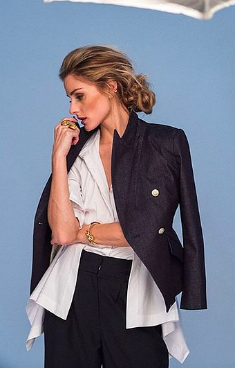 Nordstrom shared this snap of Olivia Palermo, hinting that the look in the photo is part of the collection.