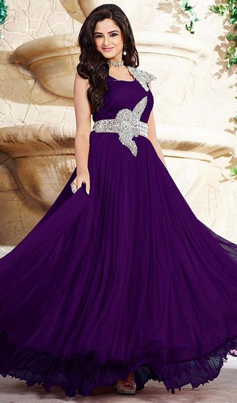 Mesmerize and astound your onlookers dressed in this purple color ...