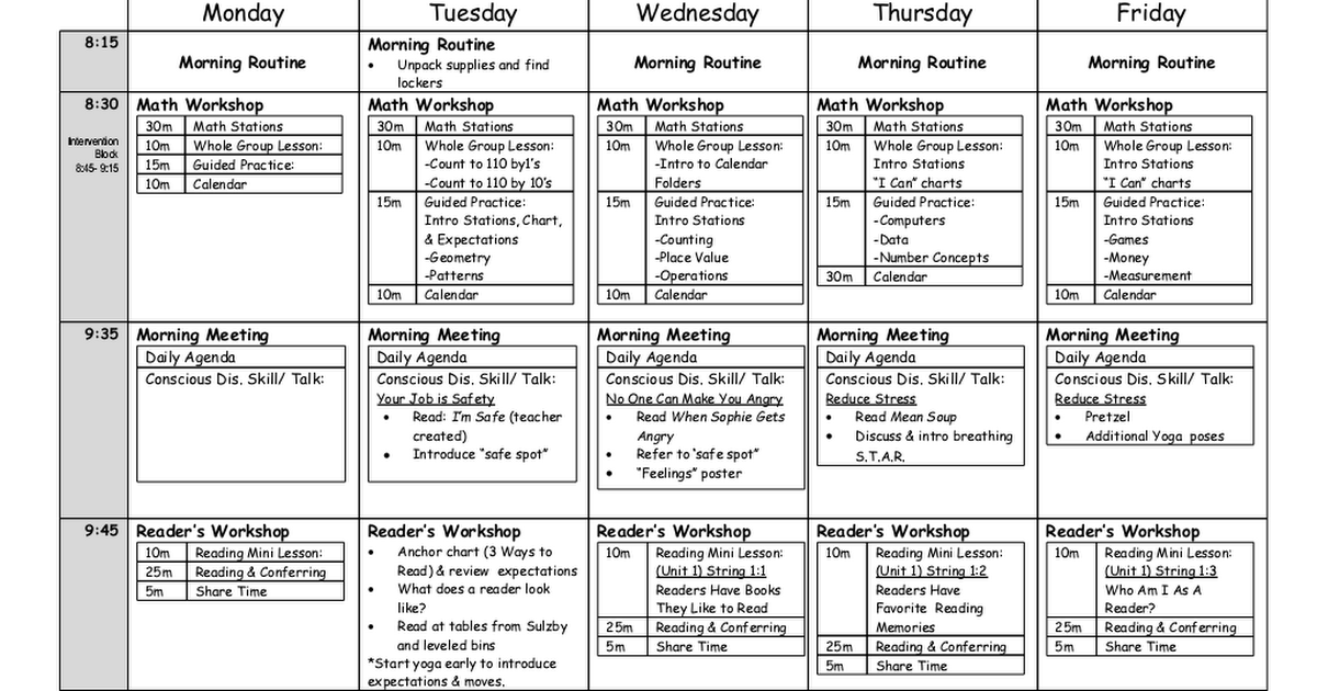 September 3 7 Planscx Classroom Ideas Pinterest September