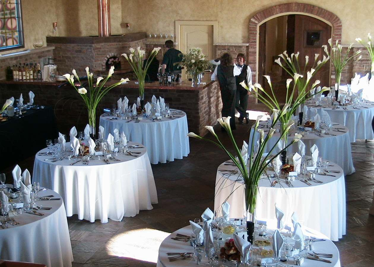 An Elegant Wedding Reception Ready To Commence At Hopewell Valley Vineyards Near Princeton New Jersey