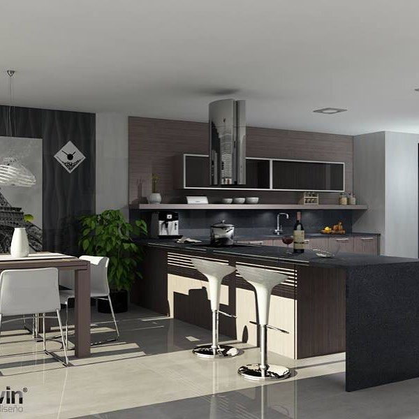 Bright Open Spaces In This #kitchen Designed With #teowin Magnificent Kitchen 3D Design 2018