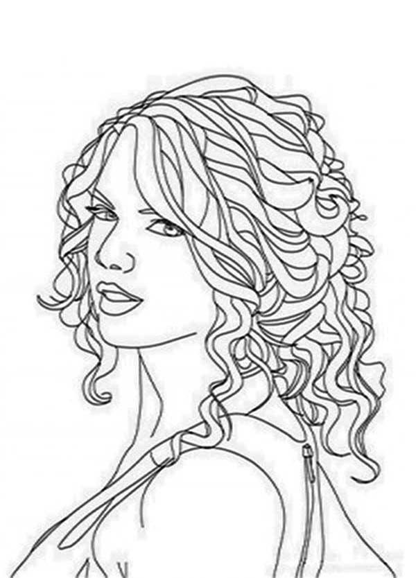 Taylor Swift Coloring Page Color Luna People Coloring Pages Coloring Pages Colouring Pages