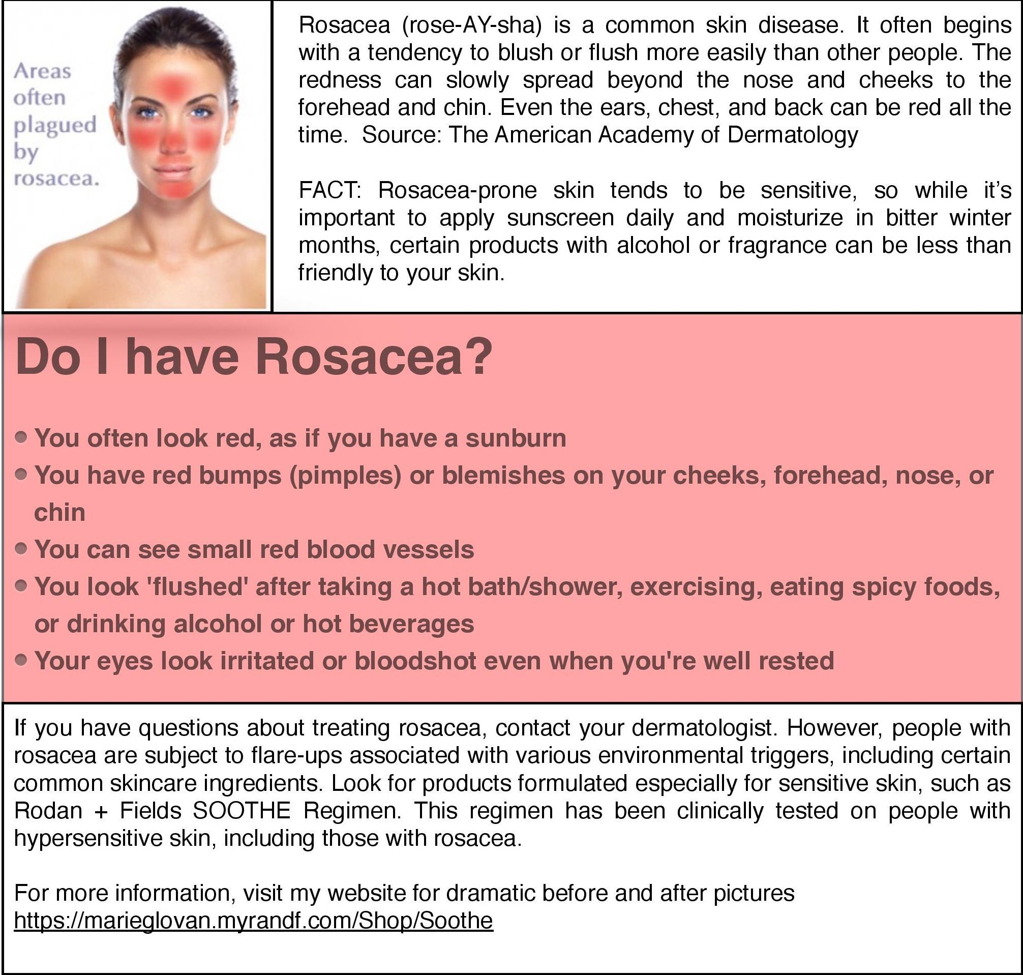 Rosacea Is A Skin Disease That Causes A Distinct And Easily Identified Reddening Of The Face Particularly Aroun Acne Rosacea Symptoms Rosacea Rosacea Symptoms