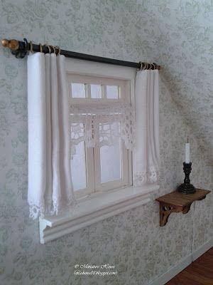 Miniature House - Doll house stuff | Pinterest - Gordijnen ...