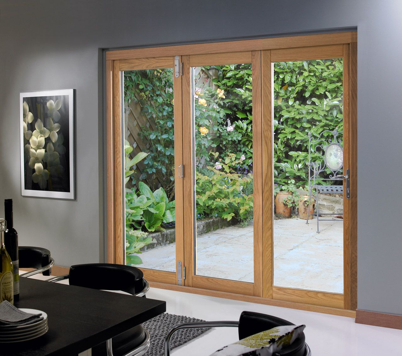3 Panel Sliding Patio Door