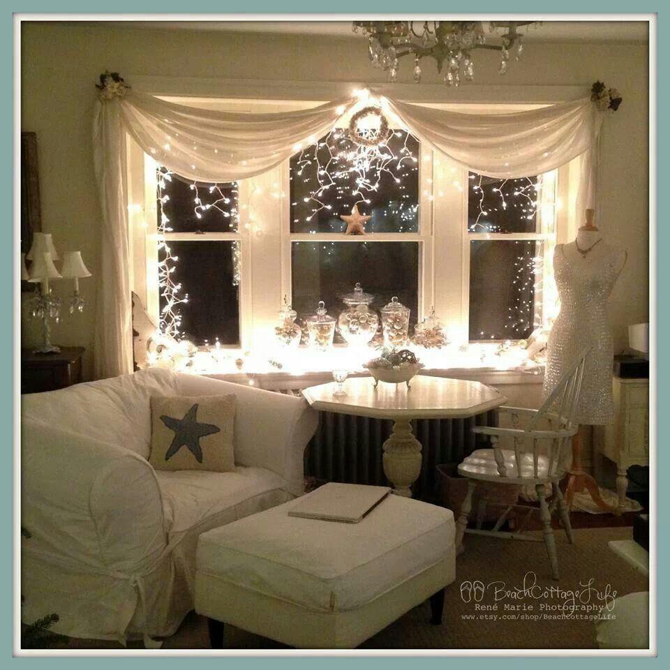 Christmas Window Decorations, Bay Window Decor, Home Decor