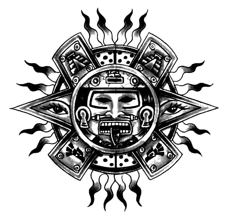 mayan tattoo designs easy to do at home nail art designs. Black Bedroom Furniture Sets. Home Design Ideas
