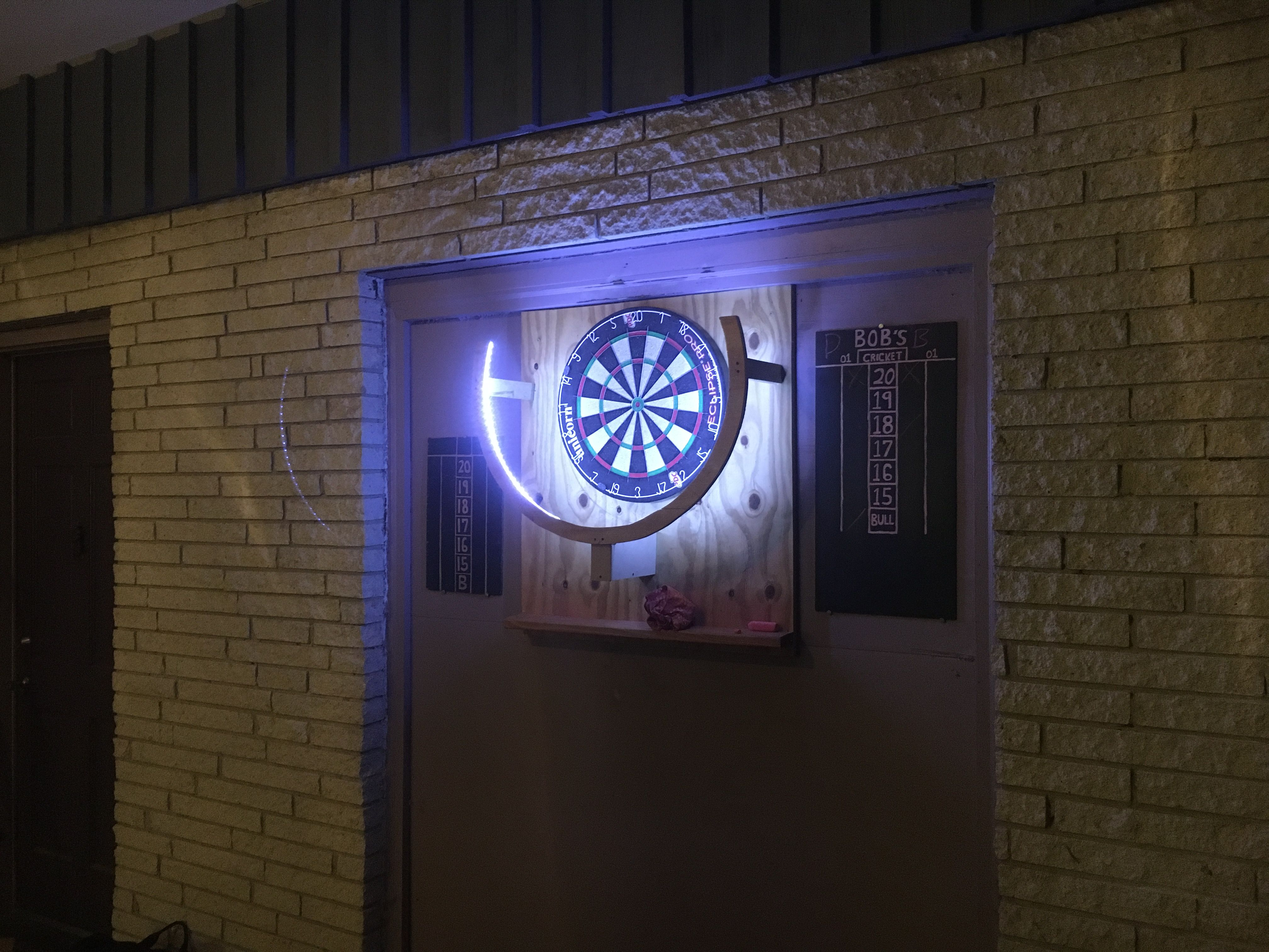 My own led dartboard lighting system quickcrafter for Diy dartboard lighting