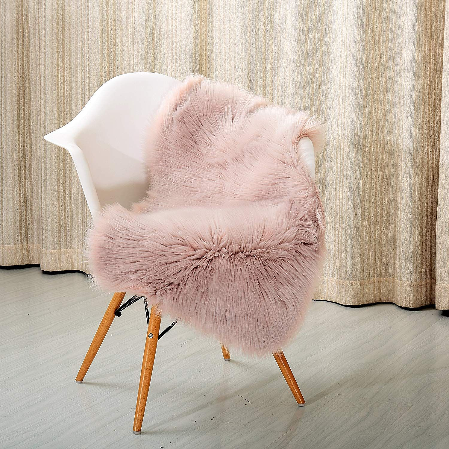 High Pile Super Soft Faux Sheepskin Rug Chair Cover Sofa Cover Multiple Usage Area Rug S Seat Covers For Chairs Dining Chair Seat Covers Faux Sheepskin Rug