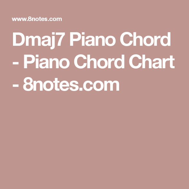 Dmaj7 Piano Chord - Piano Chord Chart - 8notes.com | Music ...