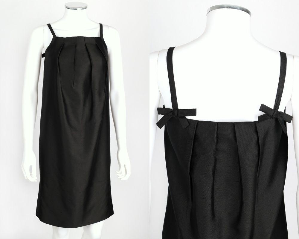 Bow back shift dress white and black