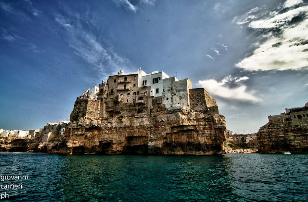 Polignano viewed from the sea