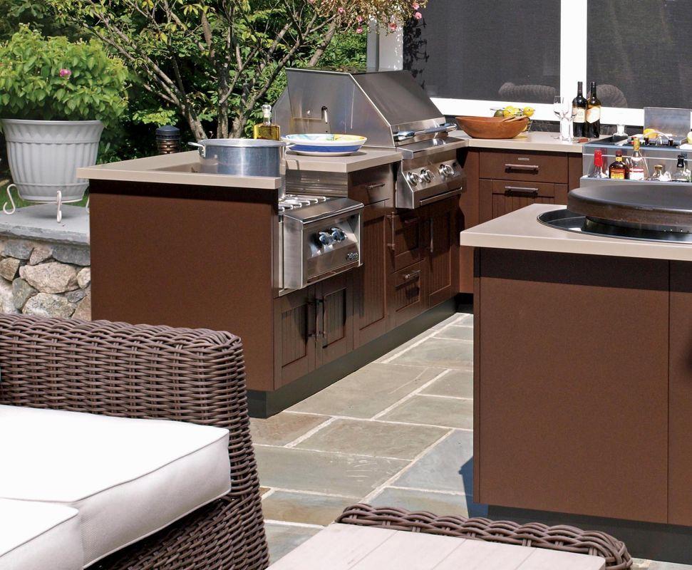 Exclusive Brown Jordan Outdoor Kitchens door style, Beadboard ...