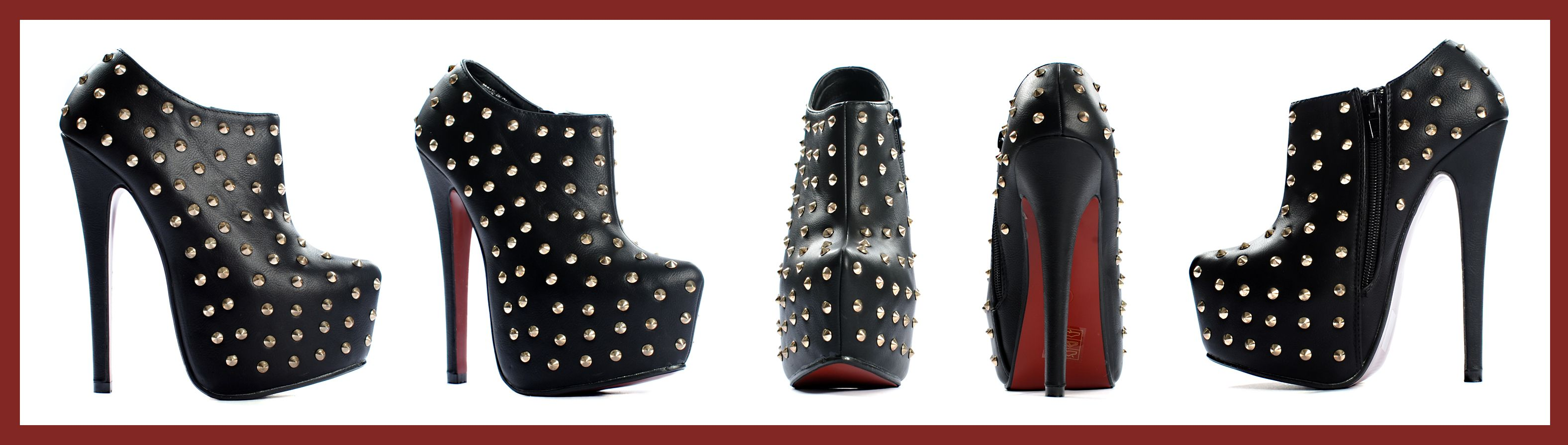 Niittinilkkurit - Ankle Boots with Studs
