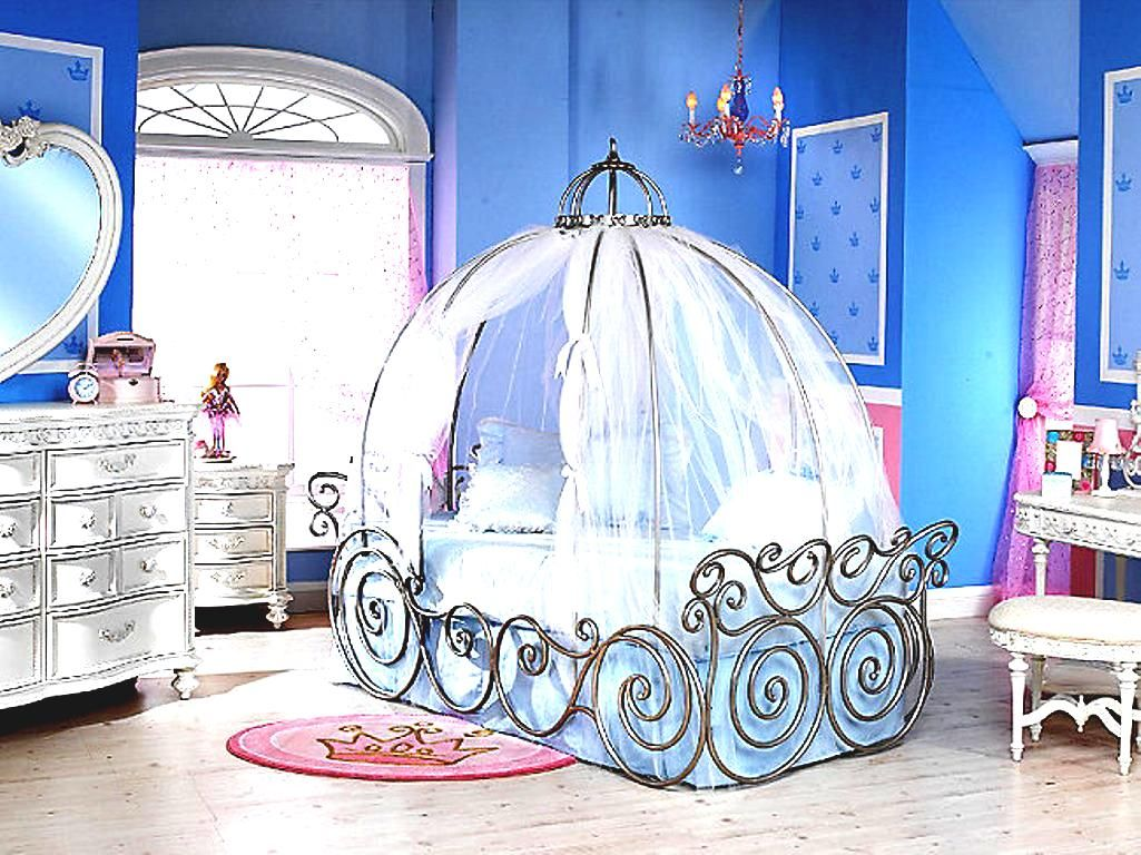 Dreamy Cinderella Carriage Bed Designs For Girls Rooms To