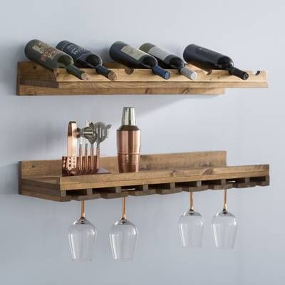 Arakaki 7 Bottle Wall Mounted Wine Rack In 2019 Rack Hanging