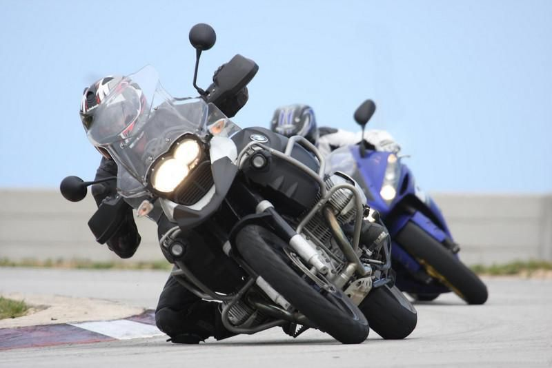 BMW R1200 GS Adventure - yes, it can be thrown around on a street course. :)