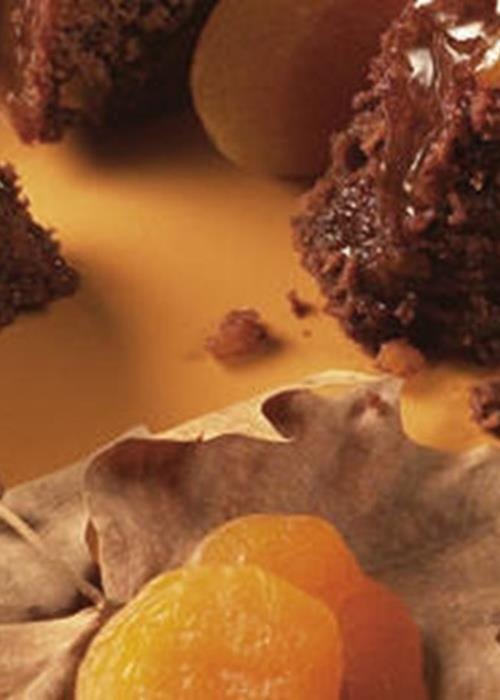 Bolo de Chocolate com Alperces
