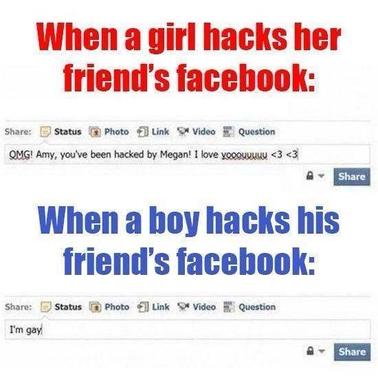 Hacked Facebook Of Friend Boy Facebook Funny Girl