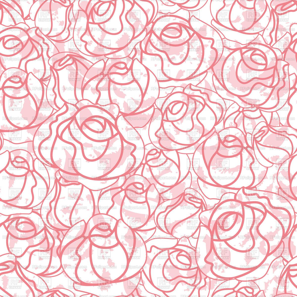 Download royalty-free Seamless roses bud outline pattern stock vector image 18940 from RFclipart collection of stock illustrations and vector graphics.
