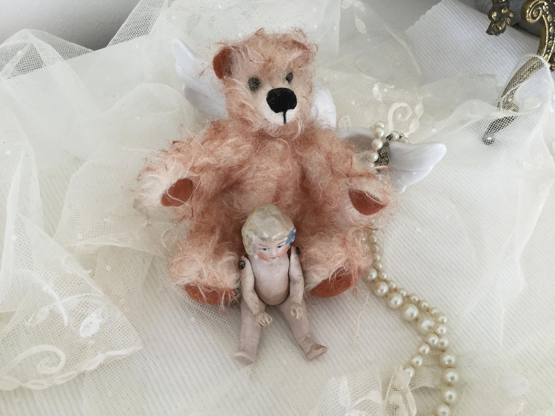 Teddy Weihnachten.German Teddy Künstlerteddy Bear Teddykönig Puppe Vintage Hellbeige