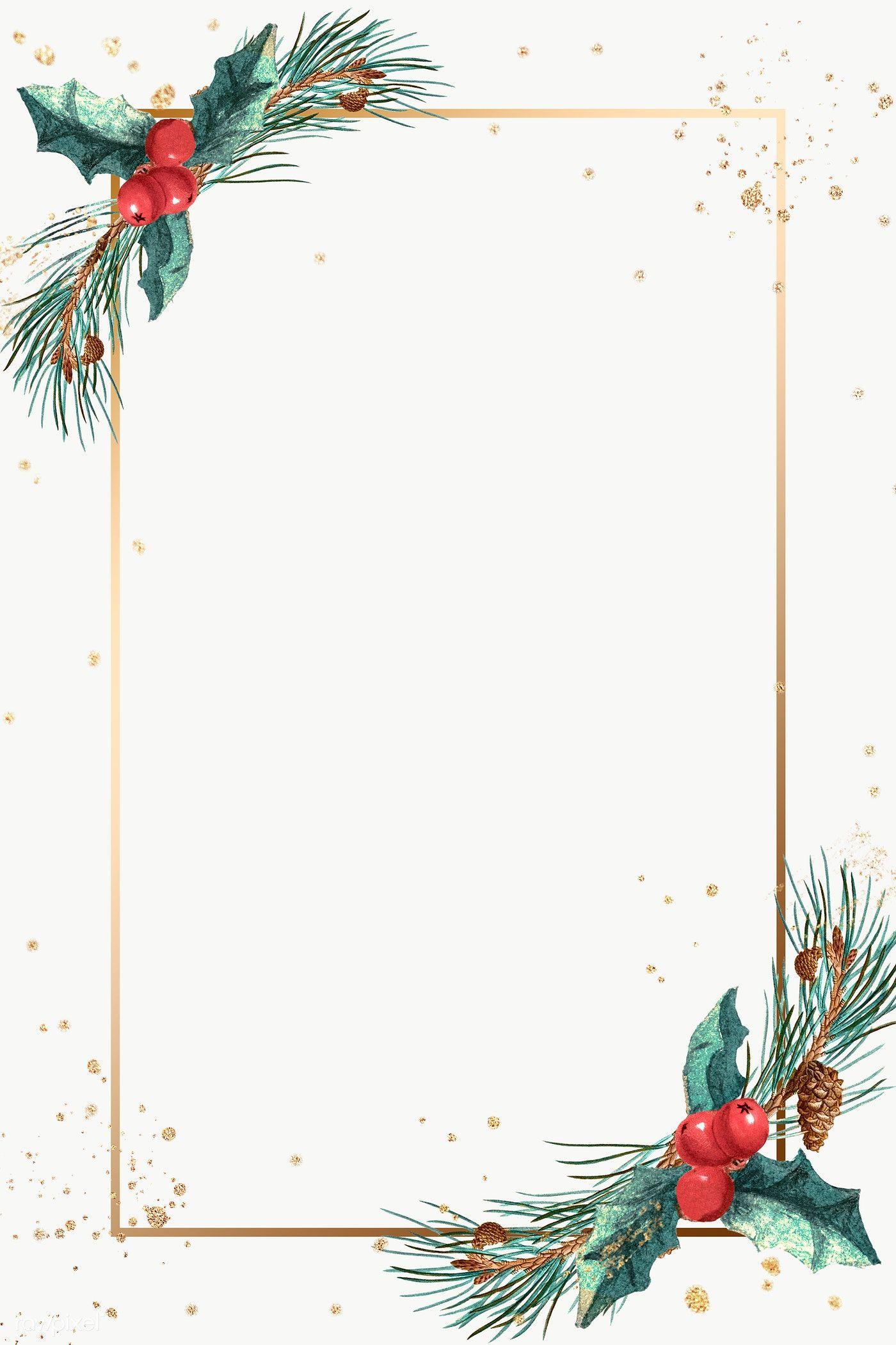Download Premium Png Of Festive Golden Rectangle Frame Vector 1228702 Christmas Lettering Christmas Card Design Christmas Wallpaper Backgrounds