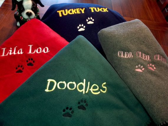Personalized Dog Blankets Large Size For You By Embroiderybysharon