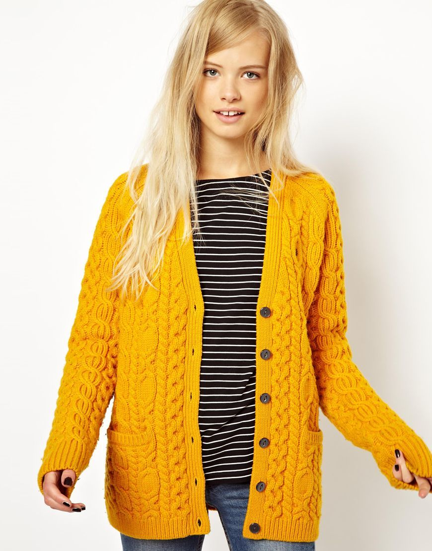 Fred Perry | Fred Perry British Knitting Aran Cardigan at ASOS ...