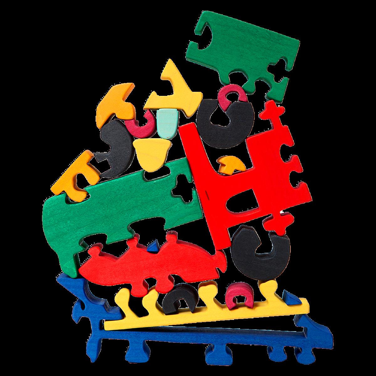 Y MaderaEs De Un Puzzle Toys Barcelona Juego Fauna Locomotora j34AL5R